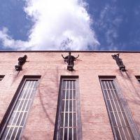 Scuola Alda Costa. particolare della facciata - Baraldi - Ferrara (FE)