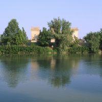 castello estense visto dal fiume - zappaterra - Mesola (FE)
