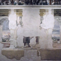 Sala della Vigna affreschi 2 - PAOLO BENETTI - Voghiera (FE)