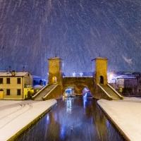 Ponte dei Trepponti con la Neve - Francesco-1978 - Comacchio (FE)