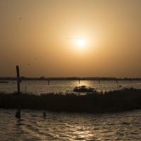 Saline di comacchio al tramonto - Due-lune - Comacchio (FE)