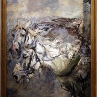 Giovanni boldini, due cavalli bianchi, 1881-86 ca - Sailko - Ferrara (FE)