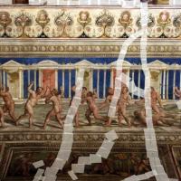 Bastianino, ludovico settevecchi e leonardo da brescia, salone dei giochi nel castello estense, 1570, 02 gioco del cesto (pugilato) - Sailko - Ferrara (FE)
