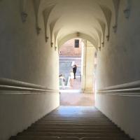 Looking down the scalone Palazzo Costabili - Alison Mary Lazzari - Ferrara (FE)