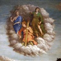 Andrea mantegna, minerva scaccia i vizi dal giardino delle virtù, 1497-1502 ca. (louvre) 04 tre virtù teologali - Sailko - Ferrara (FE)
