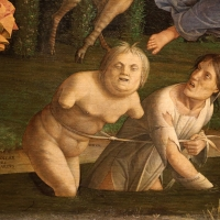 Andrea mantegna, minerva scaccia i vizi dal giardino delle virtù, 1497-1502 ca. (louvre) 21 ozio e inerzia - Sailko - Ferrara (FE)