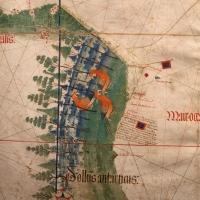 Anonimo portoghese, carta navale per le isole nuovamente trovate in la parte dell'india (de cantino), 1501-02 (bibl. estense) 03 - Sailko - Ferrara (FE)