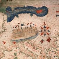 Anonimo portoghese, carta navale per le isole nuovamente trovate in la parte dell'india (de cantino), 1501-02 (bibl. estense) 04 - Sailko - Ferrara (FE)