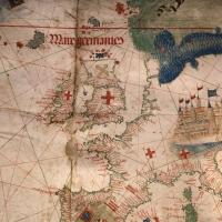 Anonimo portoghese, carta navale per le isole nuovamente trovate in la parte dell'india (de cantino), 1501-02 (bibl. estense) 05 - Sailko - Ferrara (FE)