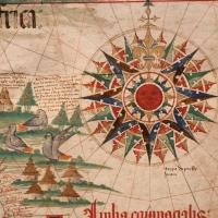 Anonimo portoghese, carta navale per le isole nuovamente trovate in la parte dell'india (de cantino), 1501-02 (bibl. estense) 11 - Sailko - Ferrara (FE)