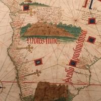 Anonimo portoghese, carta navale per le isole nuovamente trovate in la parte dell'india (de cantino), 1501-02 (bibl. estense) 12 - Sailko - Ferrara (FE)