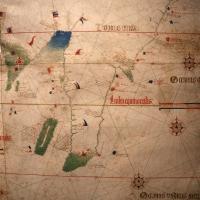 Anonimo portoghese, carta navale per le isole nuovamente trovate in la parte dell'india (de cantino), 1501-02 (bibl. estense) 17 - Sailko - Ferrara (FE)