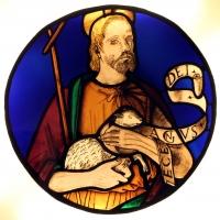 Artista bolognese, vetrata con san giovanni battista, 1400-50 ca - Sailko - Ferrara (FE)