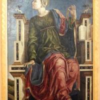 Bottega di cosmè tura, musa urania, 1450 ca., dallo studiolo di belfiore, 01 - Sailko - Ferrara (FE)