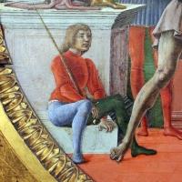 Cosmè tura, giudizio di san maurelio, 1480, da s. giorgio a ferrara, 06 paggio seduto - Sailko - Ferrara (FE)