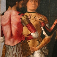 Ercole de' roberti e giovan francesco maineri, lucrezia, bruto e collatino, 1486-93 ca. (galleria estense) 02 - Sailko - Ferrara (FE)