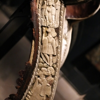Friuli o tirolo, sella da parata con le armi di ercole I d'este, post 1474 (galleria estense) 04 - Sailko - Ferrara (FE)