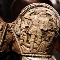 Friuli o tirolo, sella da parata con le armi di ercole I d'este, post 1474 (galleria estense) 09 - Sailko - Ferrara (FE)