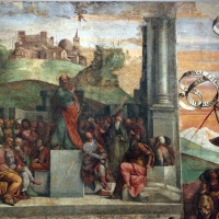 Garofalo, allegoria dell'antico e nuovo testamento con trionfo della chiesa sulla sinagoga, 1523, da s. andrea a ferrara 03 - Sailko - Ferrara (FE)