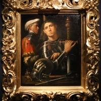 Giorgione, ritratto di guerriero con uno scudiero, detto il gattamelata, 1501 ca. (uffizi) 01 - Sailko - Ferrara (FE)