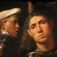 Giorgione, ritratto di guerriero con uno scudiero, detto il gattamelata, 1501 ca. (uffizi) 02 - Sailko - Ferrara (FE)