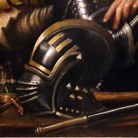 Giorgione, ritratto di guerriero con uno scudiero, detto il gattamelata, 1501 ca. (uffizi) 03 elmo - Sailko - Ferrara (FE)