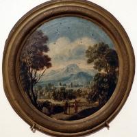 Giuseppe zola (scuola), paesaggio con due viandanti, 1700-40 ca - Sailko - Ferrara (FE)