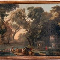 Hubert robert, capriccio con approdo, 1750-1800 ca - Sailko - Ferrara (FE)