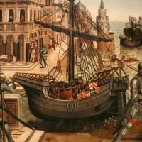 Maestro dei cassoni campana, teseo e il minotauro, 1510-15 ca. (avignone, petit palais) 04 caravella - Sailko - Ferrara (FE)