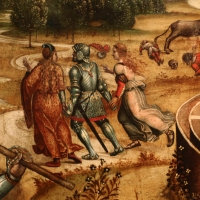Maestro dei cassoni campana, teseo e il minotauro, 1510-15 ca. (avignone, petit palais) 08 - Sailko - Ferrara (FE)