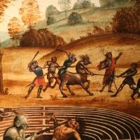 Maestro dei cassoni campana, teseo e il minotauro, 1510-15 ca. (avignone, petit palais) 09 punizione del centauro - Sailko - Ferrara (FE)