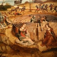 Maestro dei cassoni campana, teseo e il minotauro, 1510-15 ca. (avignone, petit palais) 10 labirinto - Sailko - Ferrara (FE)