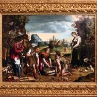 Maestro dei dodici apostoli, giacobbe e rachele al pozzo, ferrara 1500-50 ca. 01 - Sailko - Ferrara (FE)
