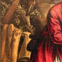 Maestro dei dodici apostoli, giacobbe e rachele al pozzo, ferrara 1500-50 ca. 03 manico di ghironda e uccello - Sailko - Ferrara (FE)