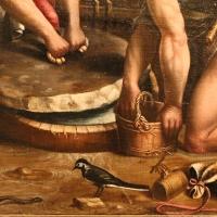 Maestro dei dodici apostoli, giacobbe e rachele al pozzo, ferrara 1500-50 ca. 08 biscia, uccellino - Sailko - Ferrara (FE)