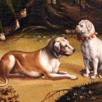 Maestro dei dodici apostoli, giacobbe e rachele al pozzo, ferrara 1500-50 ca. 10 cani - Sailko - Ferrara (FE)