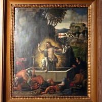 Maestro dei dodici apostoli, resurrezione di cristo col committente, ferrara 1539 - Sailko - Ferrara (FE)