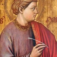 Maestro ferrarese, quattro evangelisti e san maurelio, 1390 ca. 04 matteo - Sailko - Ferrara (FE)