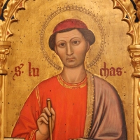 Maestro ferrarese, quattro evangelisti e san maurelio, 1390 ca. 11 luca - Sailko - Ferrara (FE)