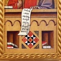 Maestro ferrarese, quattro evangelisti e san maurelio, 1390 ca. 12 luca, libri - Sailko - Ferrara (FE)