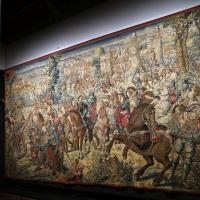 Manifattura fiamminga su dis. di bernard van orley, arazzo con battaglia di pavia e cattura del re di francia, 1528-31 (capodimonte) 01 - Sailko - Ferrara (FE)
