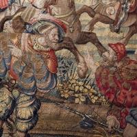 Manifattura fiamminga su dis. di bernard van orley, arazzo con battaglia di pavia e cattura del re di francia, 1528-31 (capodimonte) 03 - Sailko - Ferrara (FE)