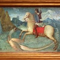 Pittore ferrarese o romagnolo, arcangelo gabriele, stigmate di s. francesco, natività e san giorgio col drago, 1510 ca. 05 - Sailko - Ferrara (FE)