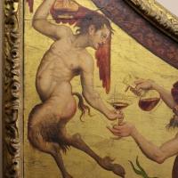 Pittore ferrarese, cassa di clavicembalo con grottesche a tema dionisiaco, 1550-1600 ca. 02 satiro - Sailko - Ferrara (FE)