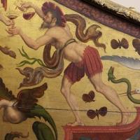 Pittore ferrarese, cassa di clavicembalo con grottesche a tema dionisiaco, 1550-1600 ca. 03 farfalle - Sailko - Ferrara (FE)