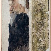 Pittore ferrarese, ritratto ci un committente e un angelo, xvi secolo, da oratorio di s.m. della concezione o della scala a ferrara - Sailko - Ferrara (FE)