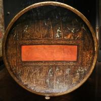 Polidoro da caravaggio, rotella da parata con assedio di cartagena e episodio di diana atteone, 1525-27 ca. (palazzo madama, to) 03 - Sailko - Ferrara (FE)