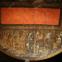 Polidoro da caravaggio, rotella da parata con assedio di cartagena e episodio di diana atteone, 1525-27 ca. (palazzo madama, to) 05 - Sailko - Ferrara (FE)