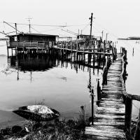 Capanni per la pesca in Valle Fattibello - Vanni Lazzari - Comacchio (FE)