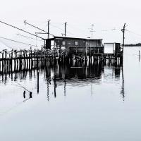 Casone da pesca in valle Fattibello - Vanni Lazzari - Comacchio (FE)